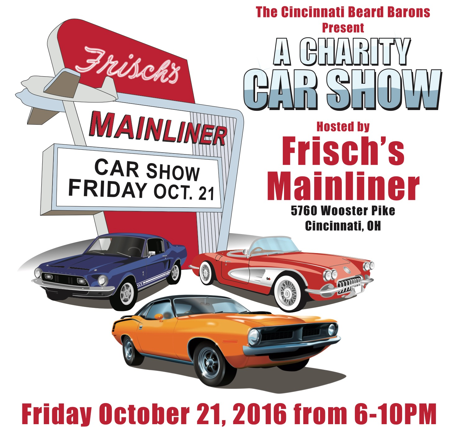 Charity Car Show At The Mainliner - Car show in cincinnati this weekend