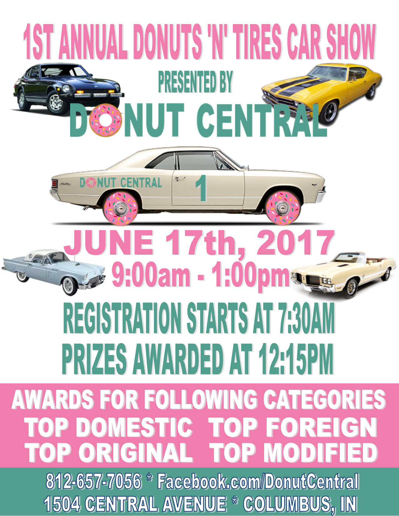 Donut Centrals Donuts N Tires Car Show And Festival - Car show award categories